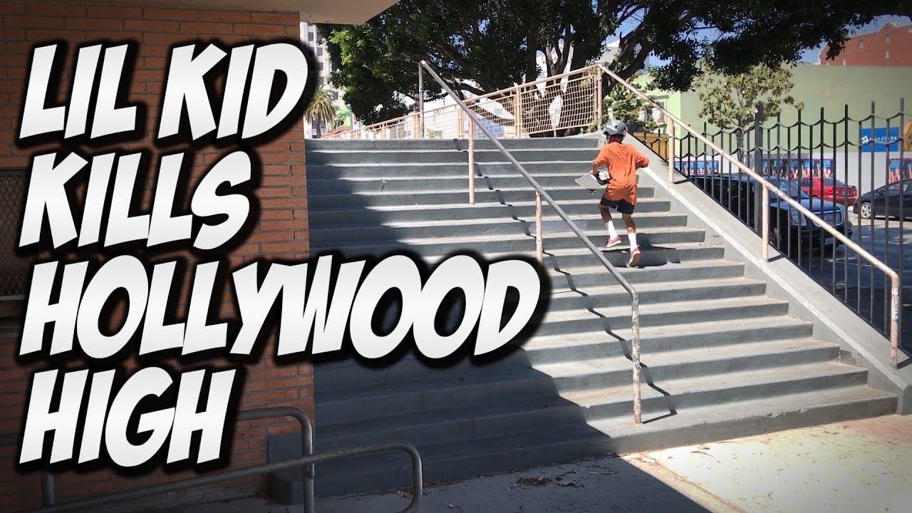 LIL KID DESTROYS HOLLYWOOD HIGH !!! - A DAY WITH NKA -