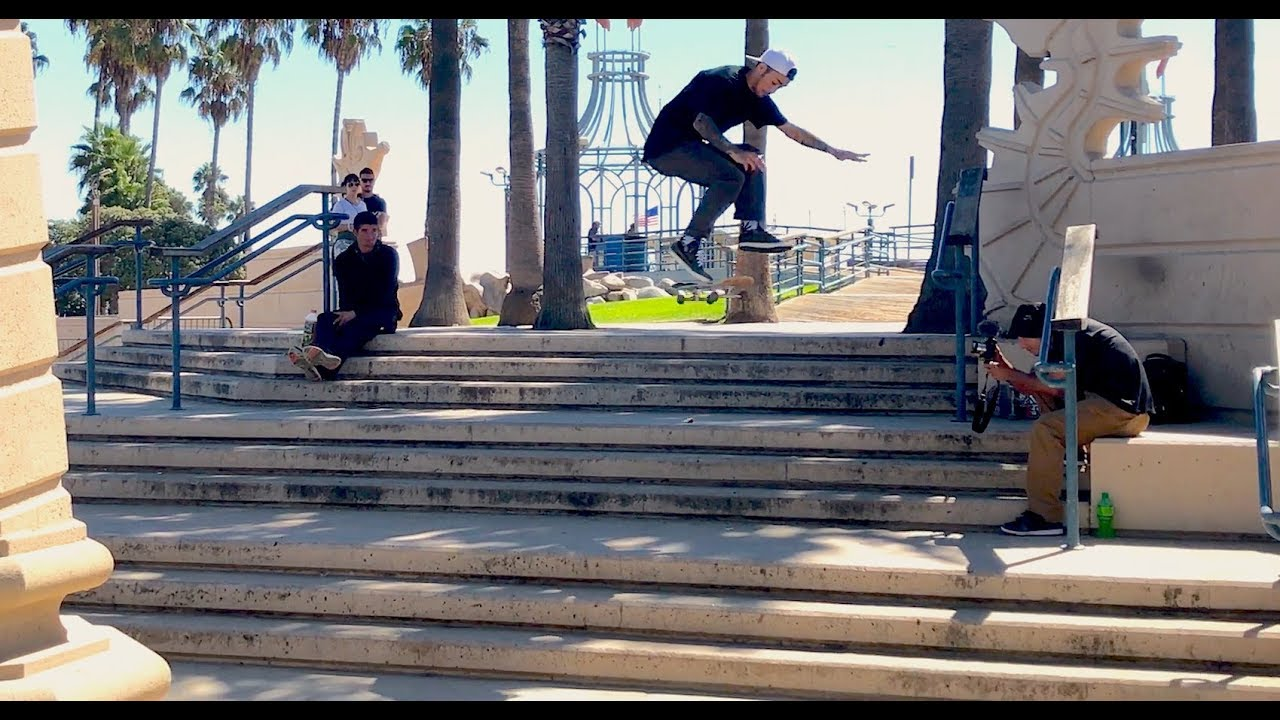 JOHN GETZ HARD FLIP LATE FLIP SANTA MONICA TRIPLE SET 1ST TRY !!!! - NKA VIDS -