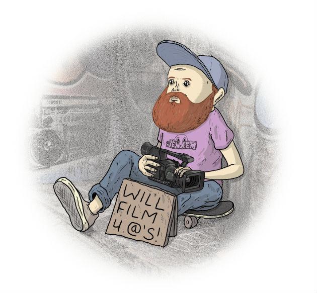 Was Skateboard Videofilmer Verdienen 75 Us Dollar Pro Trick Lines