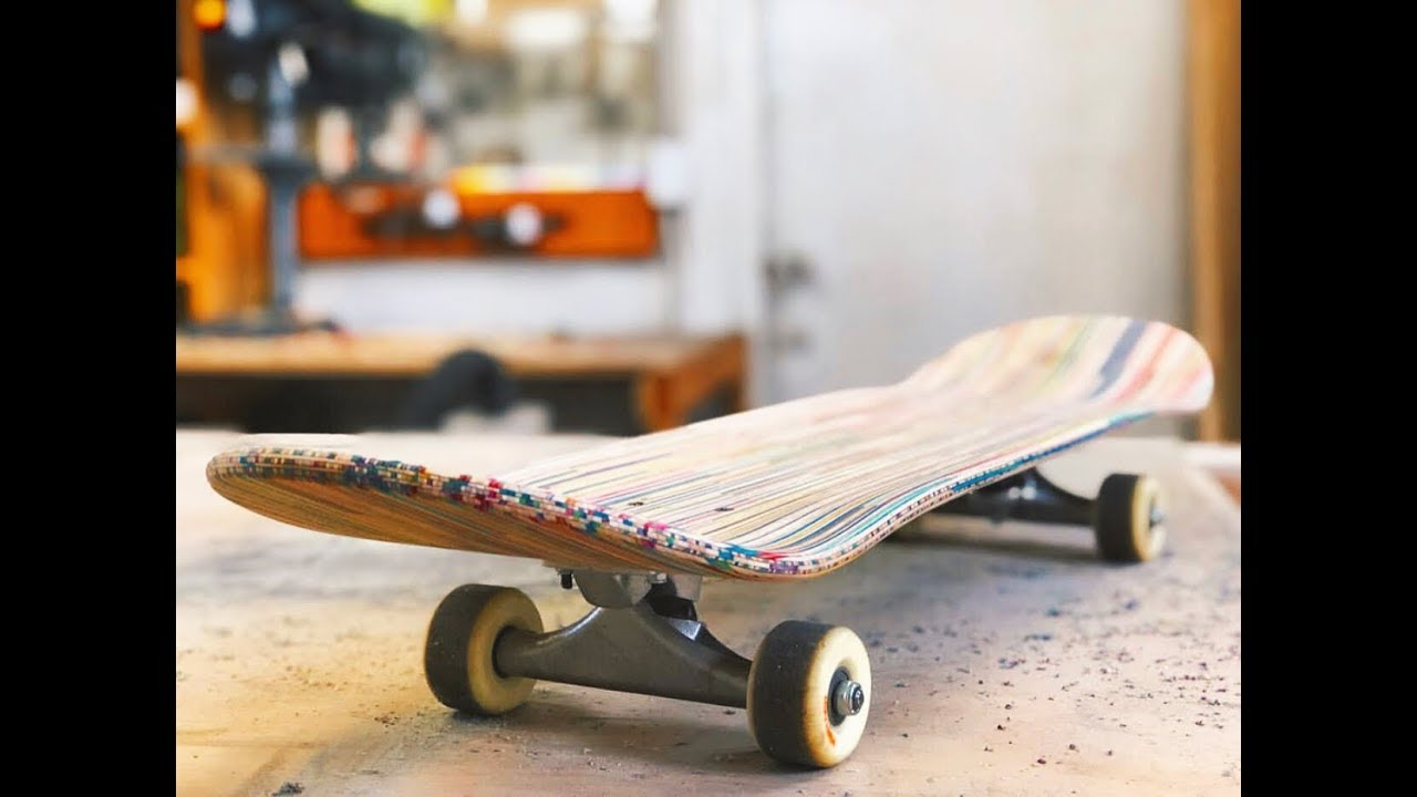 SKATEBOARD MADE OUT OF BROKEN SKATEBOARDS
