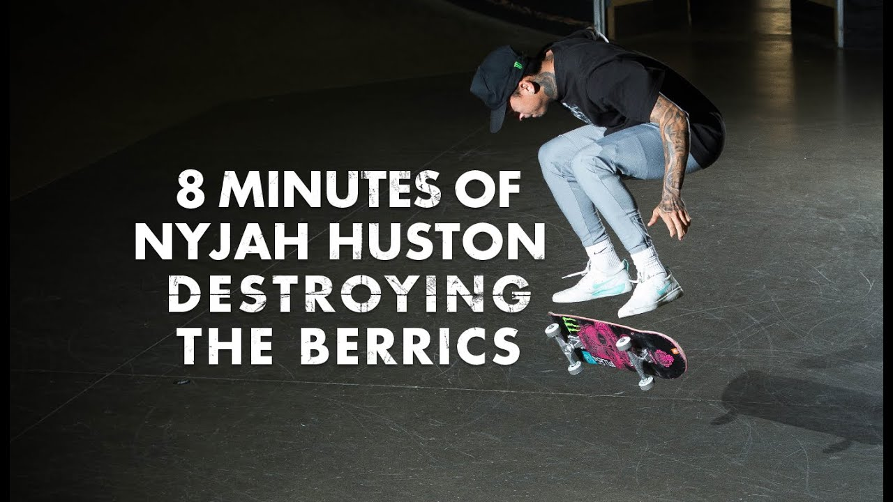 8 Minutes Of Nyjah Huston Destroying The Berrics