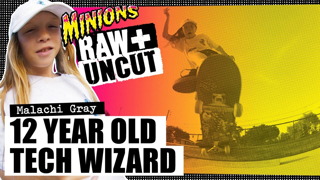 12 Year Old Tech Wizard! Malachi Gray: SC Minions RAW & UNCUT | Santa Cruz Skateboards