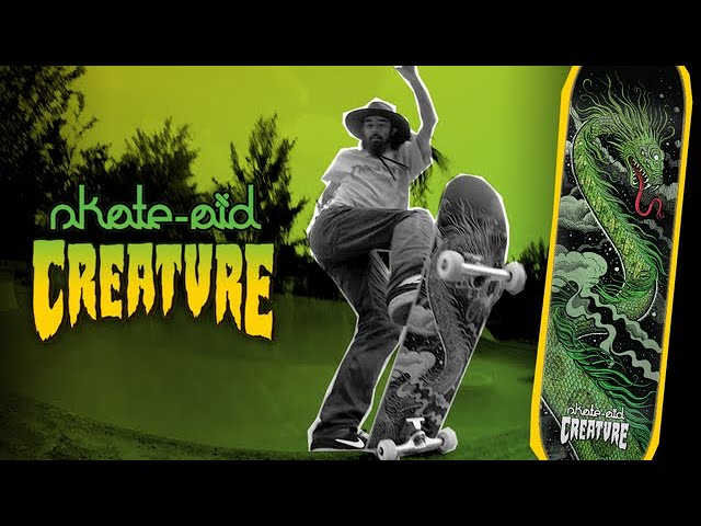Cody Lockwood puts the New LTD Edition Creature x skate-aid deck to the test!