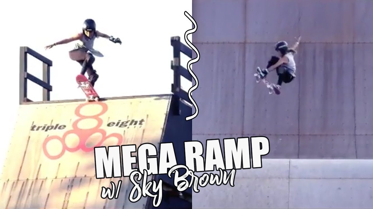 MEGA RAMP SKATING & TRICKS | Sky Brown 12 year old skater